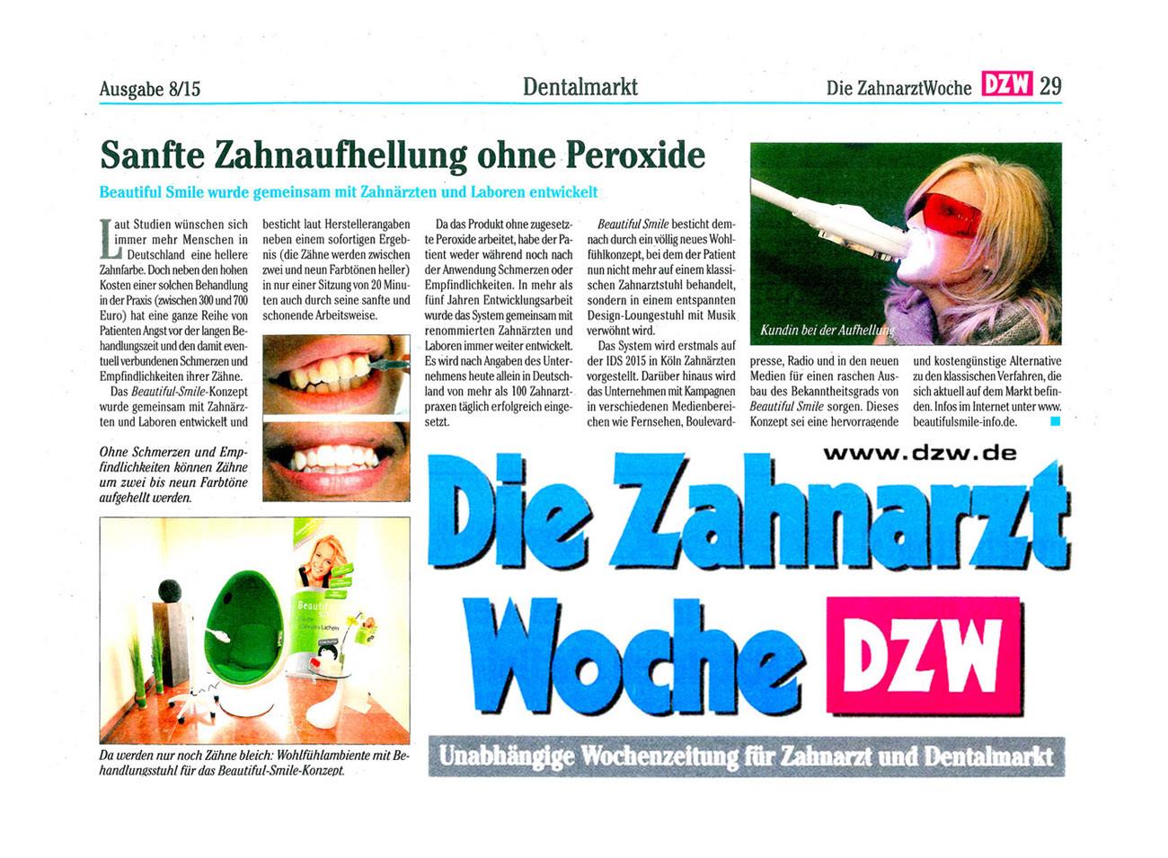 Die Zahnarzt Woche DZW Ausgabe 08 2015