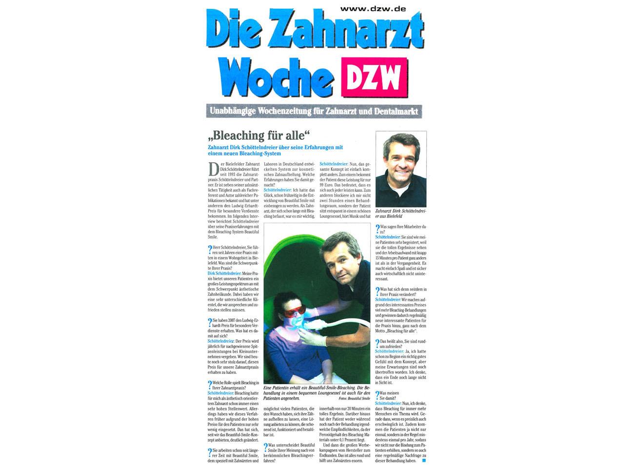 Die Zahnarzt Woche DZW Ausgabe 18 2015
