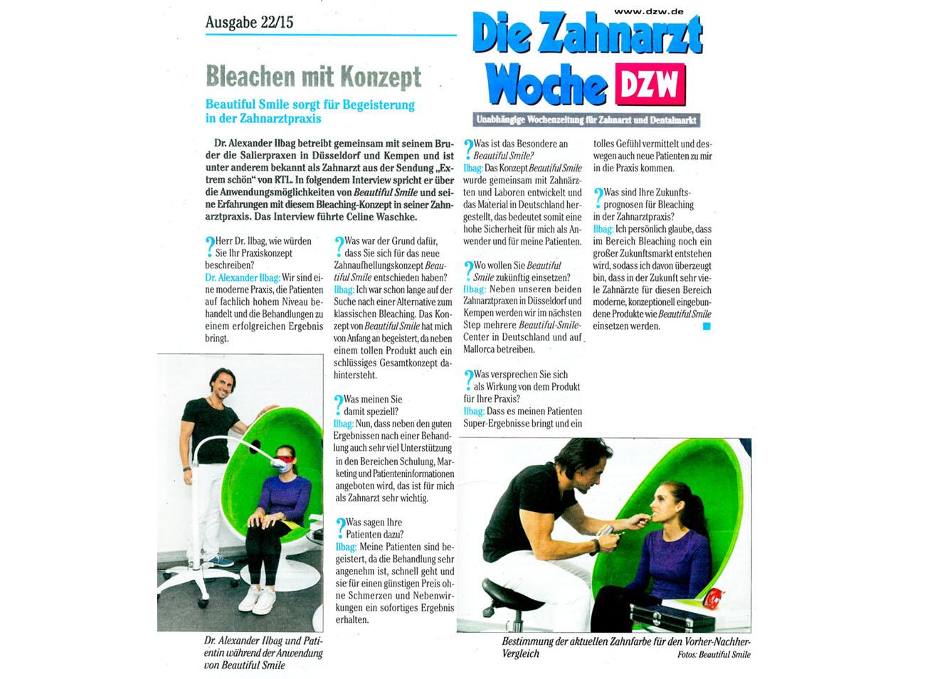 Die Zahnarzt Woche DZW Ausgabe 22 2015