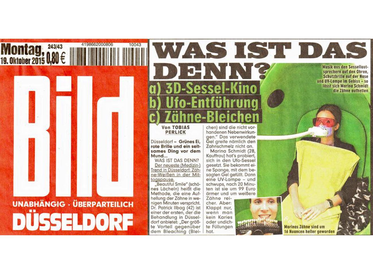 Presse Artikel Bild Düsseldorf 19.10.2015