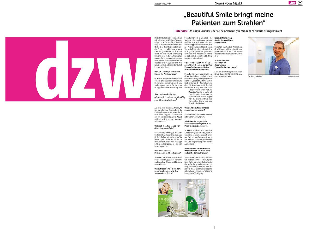 Die Zahnarzt Woche DZW Ausgabe 46.2019