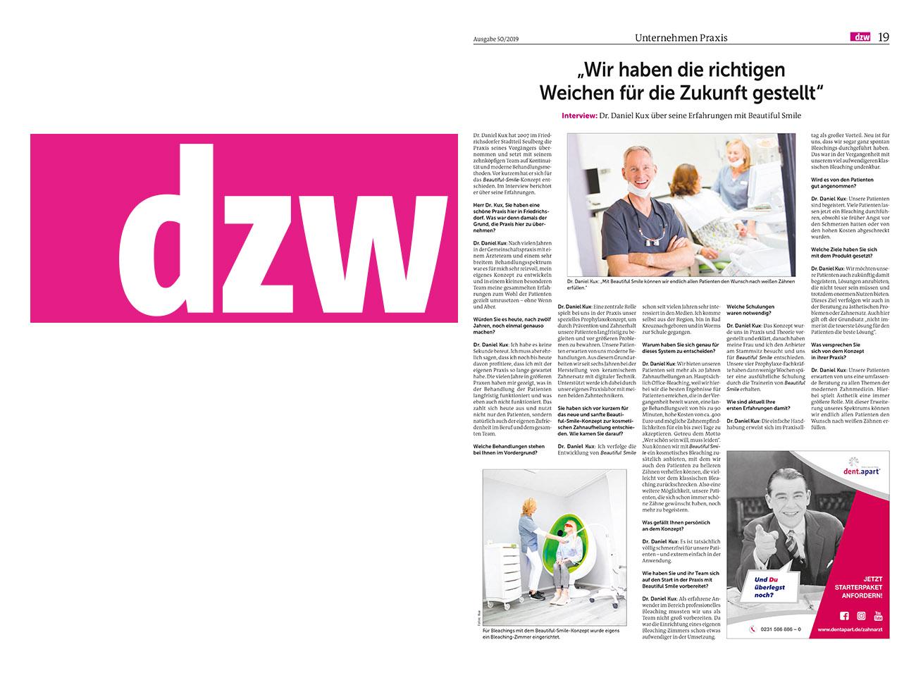 Die Zahnarzt Woche DZW Ausgabe 50.2019